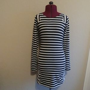 Lucca Couture Dresses - lucca couture Black & Ivory Striped Dress/Tunic